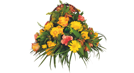 Coffin Floral Basket