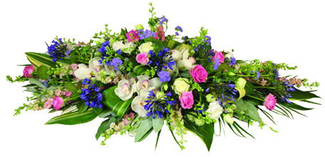 Mixed Flower Coffin Spray
