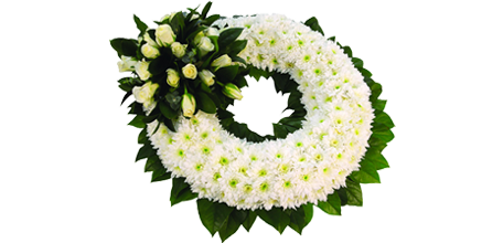 Chrysanthemum Based Wreath Coffin Spray